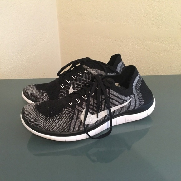 4643da00107d ... womens running shoes 9.5 8a51b ca53d  coupon for 1 nike free 4.0 flyknit  black white wolf grey 10 0d028 a0aa3